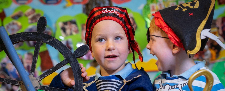 nursery children in costumes